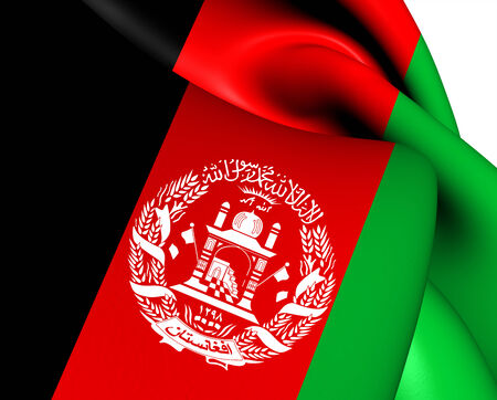 afghanistan': Flag of Afghanistan. Close Up.