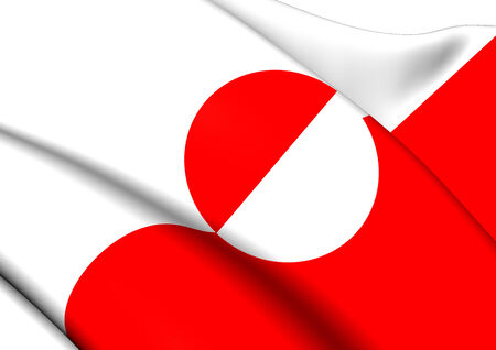 greenland: Flag of Greenland. Close Up.   Stock Photo