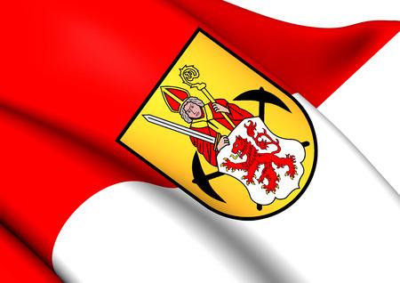 limburg: Flag of Kerkrade, Netherlands. Close Up.