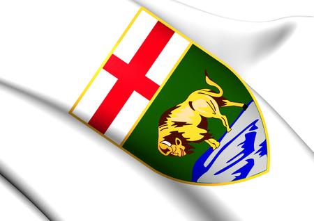 manitoba: Manitoba Coat of Arms, Canada. Close Up.