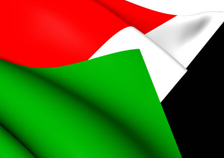 sudan: Flag of Sudan. Close Up.   Stock Photo