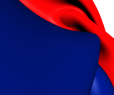 Flag of Ticino, Switzerland. Close Up. photo