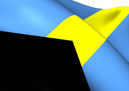 Flag of Bahamas. Close Up. photo