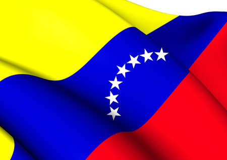 Bandera civil de Venezuela. Close Up. photo