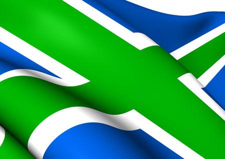 Flag of Scottish Highlands. Close Up.