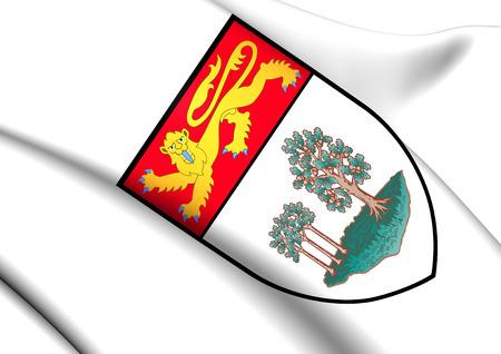 edward: Prince Edward Island Coat of Arms, Canada. Close Up. Stock Photo