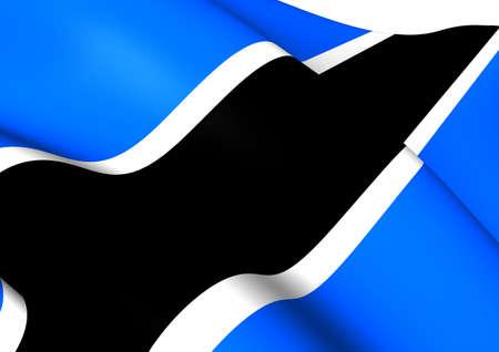 botswana: Flag of Botswana. Close Up.