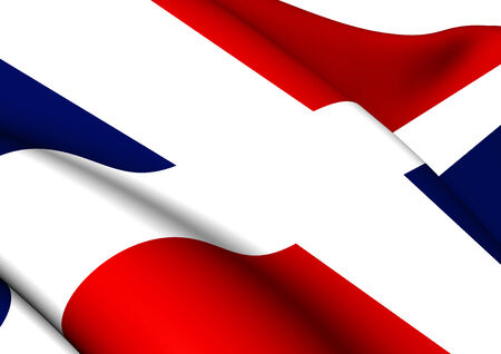 dominican republic: Flag of Dominican Republic. Close Up.   Stock Photo