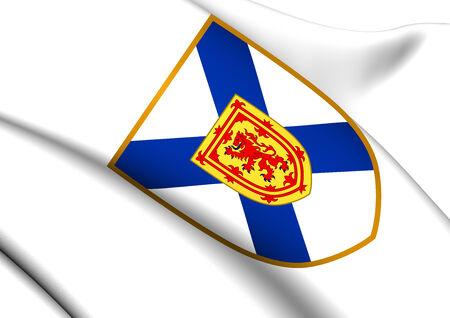 nova: Nova Scotia Coat of Arms, Canada. Close Up.