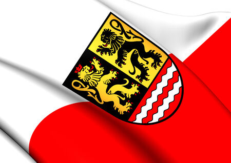 orla: Flag of Saale-Orla, Germany. Close Up.    Stock Photo
