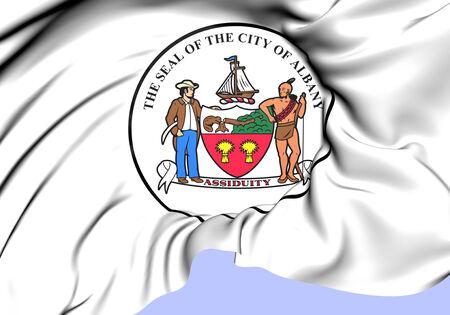 albany: Seal of Albany, USA. Close Up.