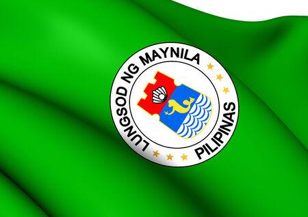 Flag of Manila, Philippines. Close Up. photo