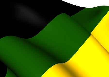 congress: Flag of African National Congress. Close Up.