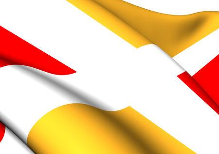 blason: Flag of Aix-en-Provence, France. Close Up.    Stock Photo