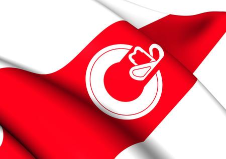calgary: Flag of Calgary, Canada. Close Up.