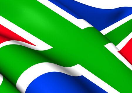 groningen: Vlag van de provincie Groningen, Nederland. Close Up. Stockfoto