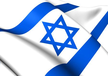 Flag of Israel. Close Up.    photo