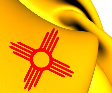 Flag of New Mexico, USA. Close Up.   photo