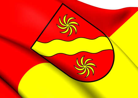 munster: Flag of Warendorf, Germany. Close Up.