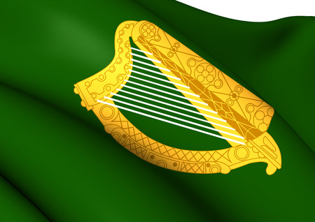 leinster: Flag of Leinster Province, Ireland. Close Up.
