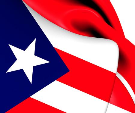 puertorico: Flag of Puerto Rico. Close Up.
