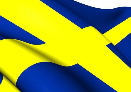 Flag of Sweden. Close Up.    photo