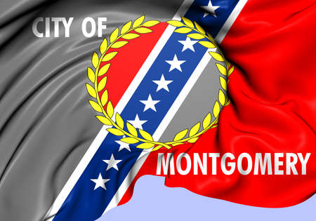 montgomery: Flag of Montgomery, USA. Close Up.    Stock Photo