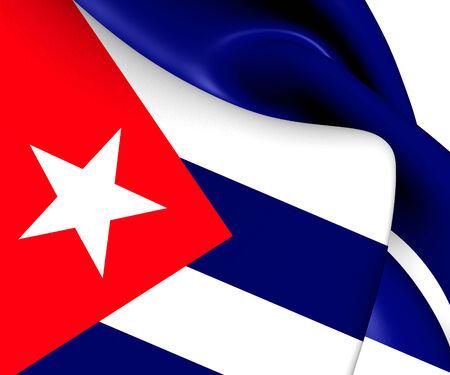 Flag of Cuba. Close Up.   photo