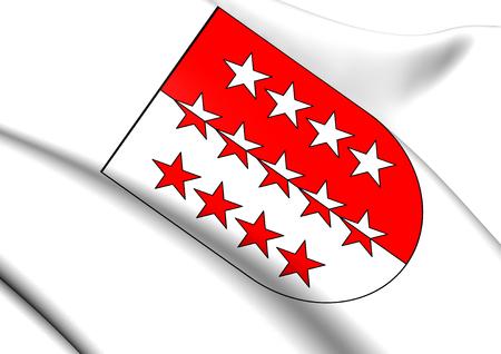 valais: Valais Coat of Arms, Switzerland. Close Up.