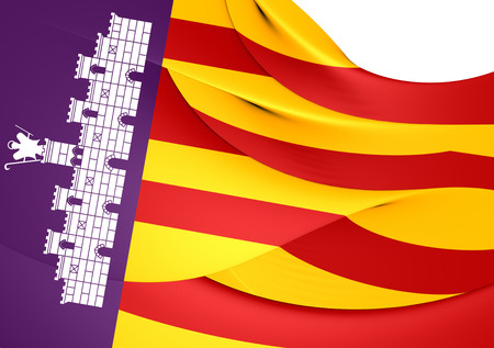 majorca: Flag of Majorca, Spain. Close Up.