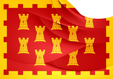 manchester: Flag of Greater Manchester, England.