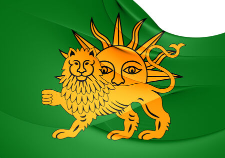 Flag of Safavid Dynasty. Close Up.   photo