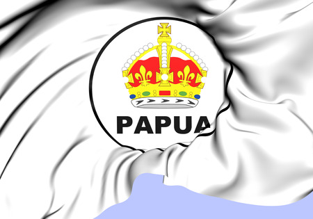 former: Territory of Papua Seal (1906-1949).  Stock Photo