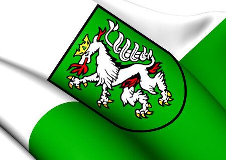 statutory: Flag of Graz, Austria. Close Up.    Stock Photo