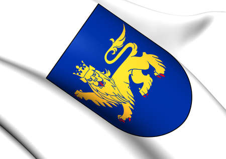 upsala: Uppsala Coat of Arms, Sweden. Close Up.    Stock Photo
