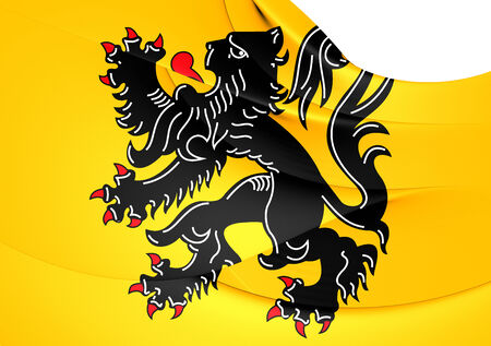 flanders: Flag of Flanders. Close Up.
