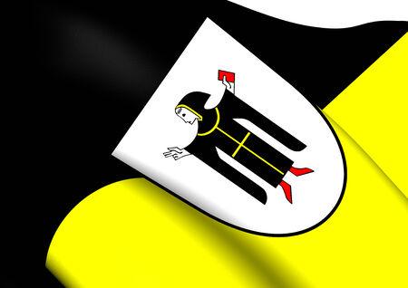 munich: Flag of Munich, Germany. Close Up.