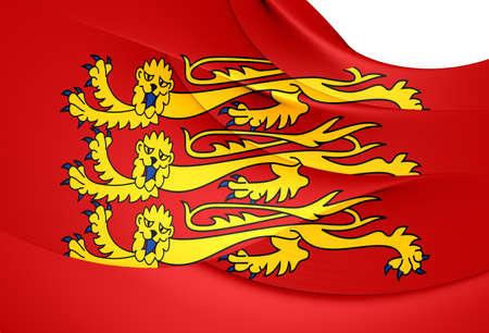 Royal Banner of England. Close Up. photo