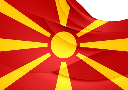 macedonia: Flag of Macedonia. Close Up.
