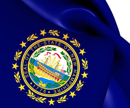 hampshire: Bandera de Nueva Hampshire, EE.UU.. Close Up.