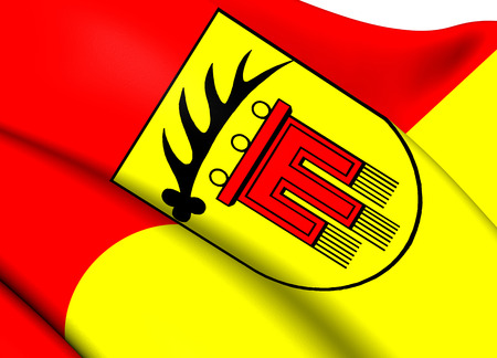 Bandera de Boeblingen Kreis, Alemania. Close Up. photo
