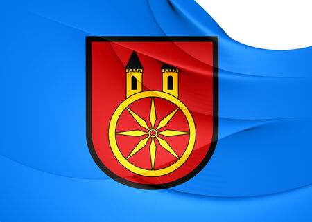 wielkopolskie: Flag of Kolo, Poland. Close Up.