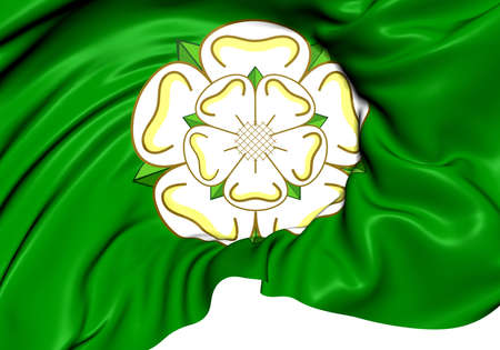 Flag of North Yorkshire, England. Close Up.    photo