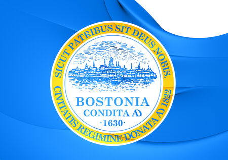 Flag of Boston, USA. Close Up.    photo