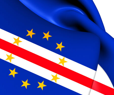 cape verde: Flag of Cape Verde. Close Up.