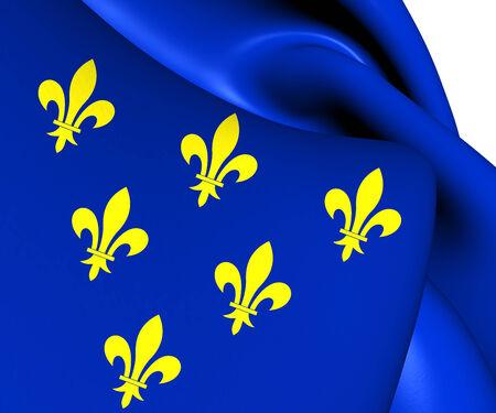 Flag of Donceel, Belgium. Close Up.