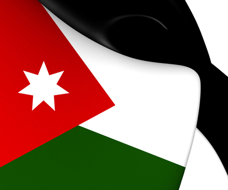Flag of Jordan. Close Up.    photo