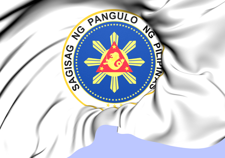 President of Philippines Seal. Close Up.    photo