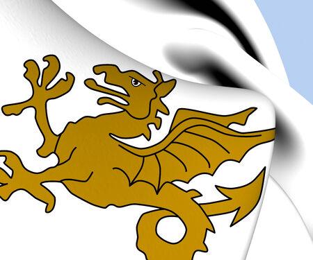 Kingdom of Wessex Flag. Close Up.    photo