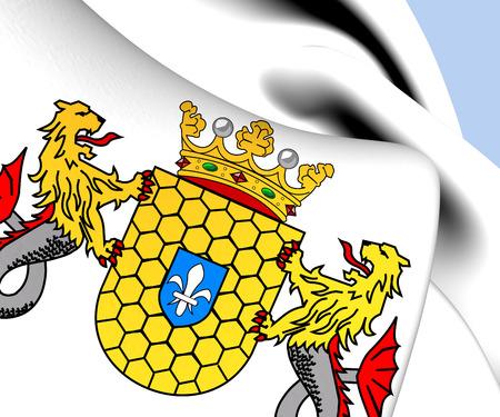 lelystad: Lelystad Coat of Arms, Netherlands. Close Up.